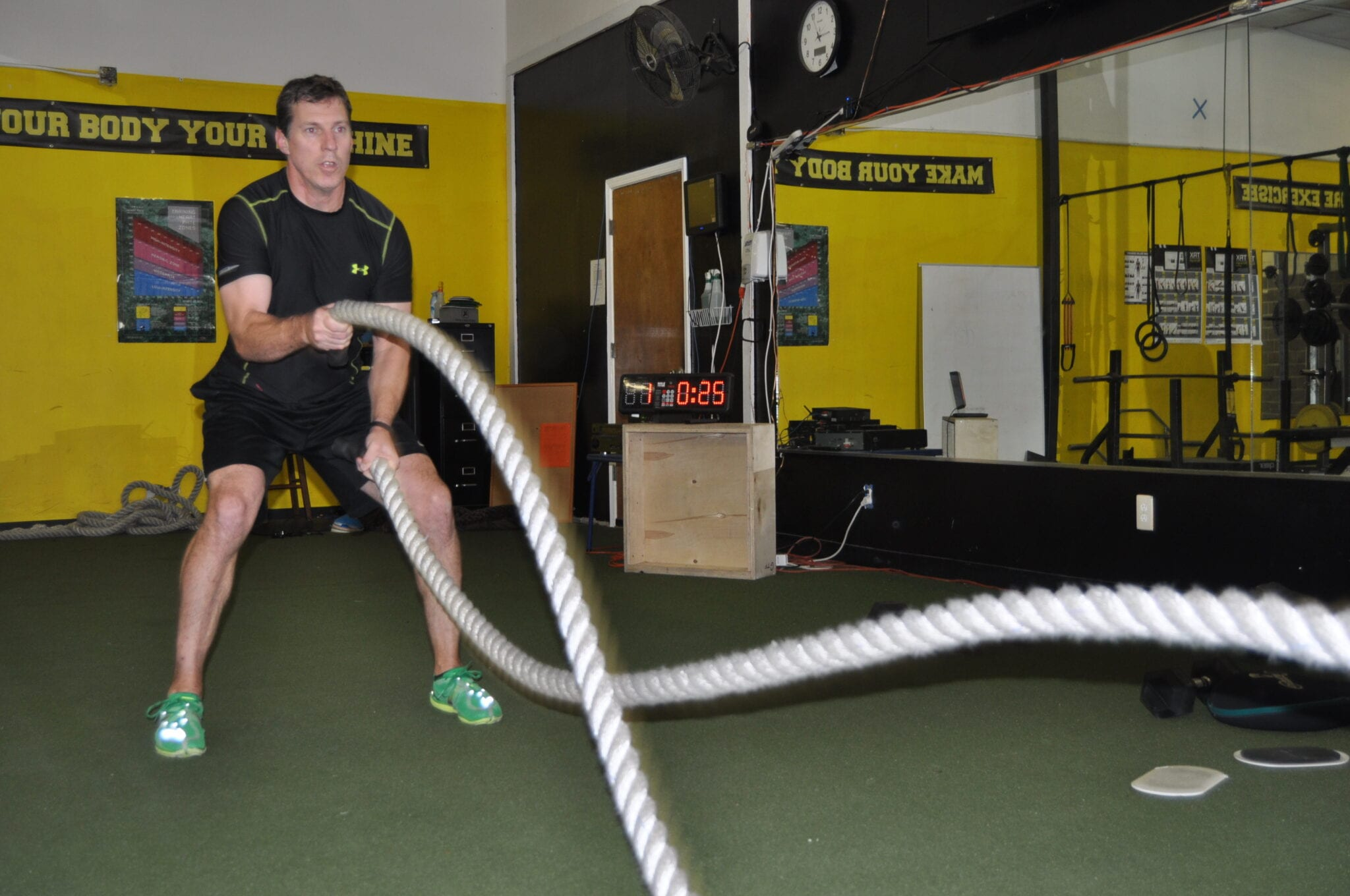 john using ropes for cardio